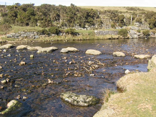 Stepping stones over the river Lyd