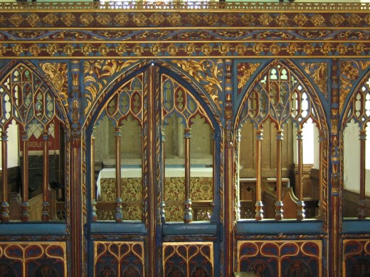 Chancel screen, Gidleigh church