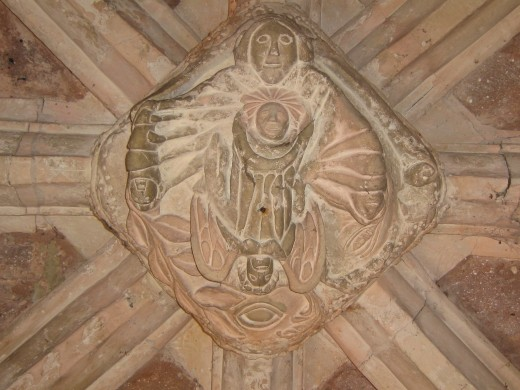 Carving in Thorverton Church