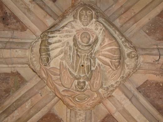 Carving in Thorverton Church