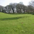 Cadbury Castle embankments
