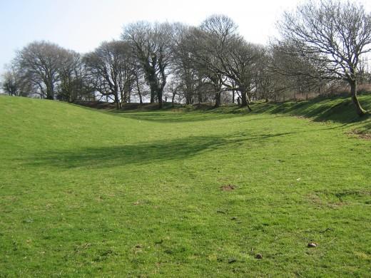Cadbury Castle embankments
