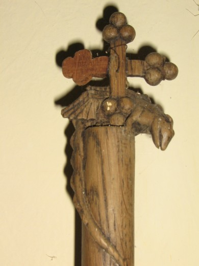 Churchwarden stave, Cadbury Church
