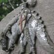 St George slays the dragon. Ruishton