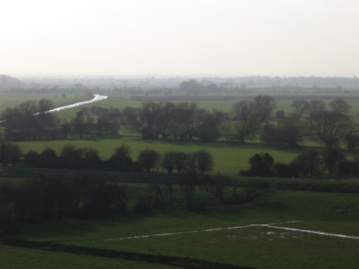 View over Somerset Levels
