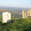 Brentor churchyard, view over Dartmoor