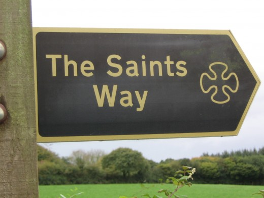 Finger Post where our route meets Saints Way