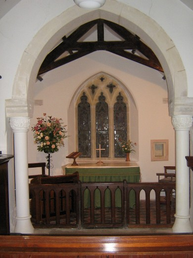 Inside the chapel, Old Kea