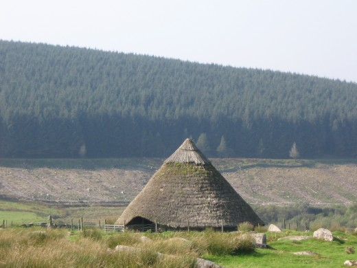 Reconstruction of Bronze age Roundhouse