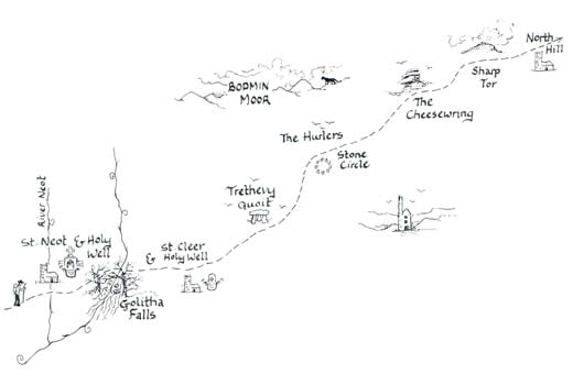 Mary Michael Pilgrims Way Cornwall: St Neot & Holy Well to North Hill