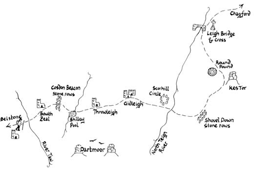 Mary Michael Pilgrims Way pilot section part 2: Belstone to Chagford