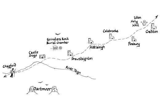 Mary Michael Pilgrims Way pilot section part 3: Chagford to Crediton