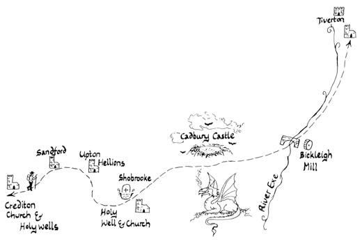 Mary Michael Pilgrims Way pilot section part 4: Crediton to Tiverton