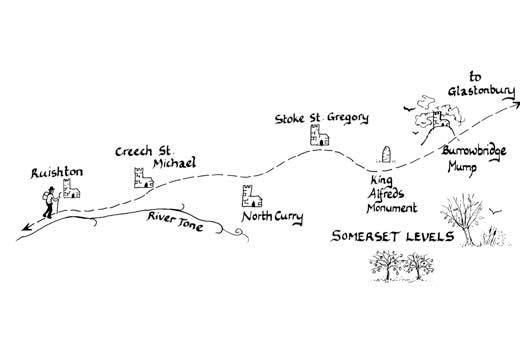 Mary Michael Pilgrims Way pilot section part 6: Taunton to Burrowbridge Mump