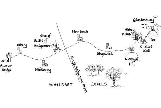 Mary Michael Pilgrims Way pilot section part 7: Burrowbridge to Glastonbury