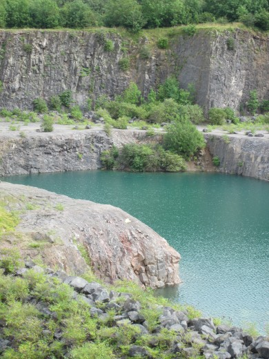 Flooded quarry near Stoke St Michael