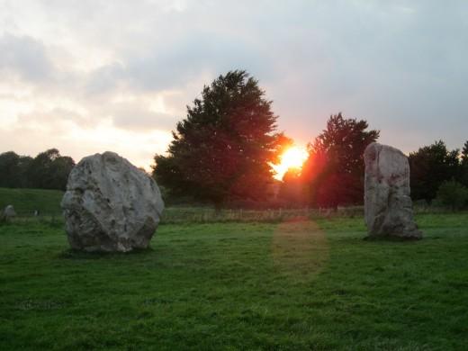 September sunset, Avebury